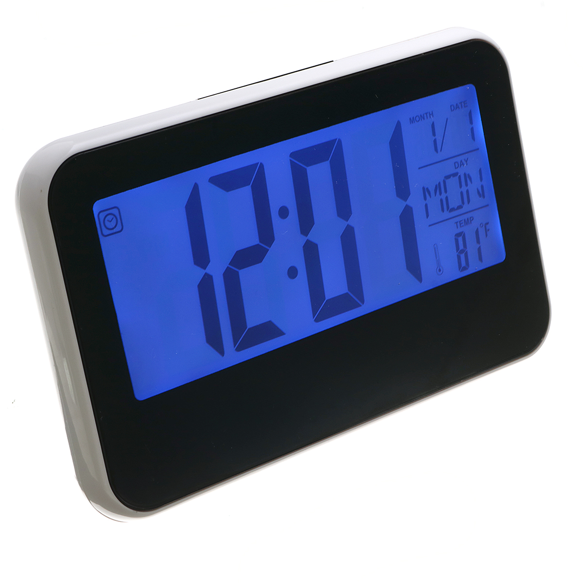 LCD Display Digital Alarm Clock Sound Controlled With ...