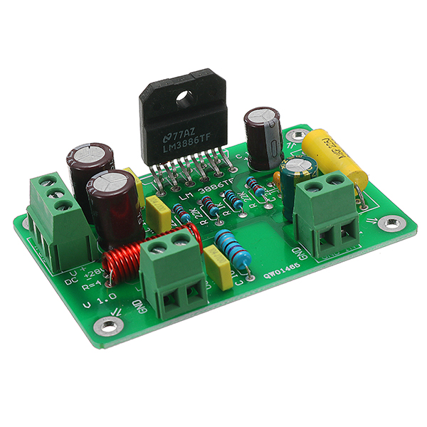 hifi lm3886 tf mono 68w 4 audio power amplifier board amp 50w 38w 8. Black Bedroom Furniture Sets. Home Design Ideas