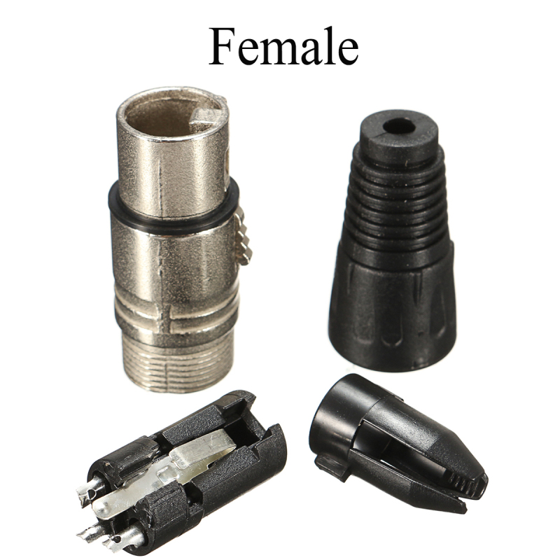 10 Pair XLR 3 Pin Male Female MIC Snake Plug Audio Microphone Adapter Microphone Cable Connector