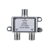 Jasen MX21D 2 In 1 Dual Use 2 Way TV Signal Satellite Coaxial Diplexer Combiner Splitter Switch