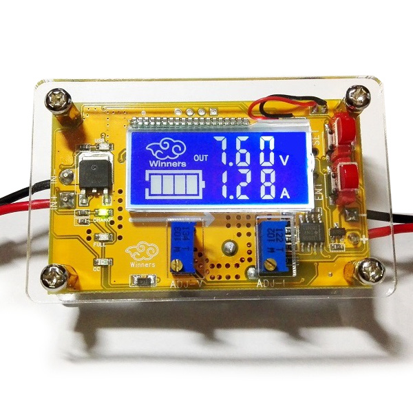10A DC-DC LCD Adjustable Step Down Power Supply Voltage Current Display Module W