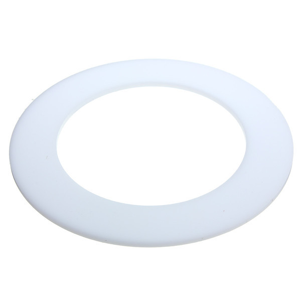 3mm Thick Round White Acrylic Disc Ring Laser Cut Plastic