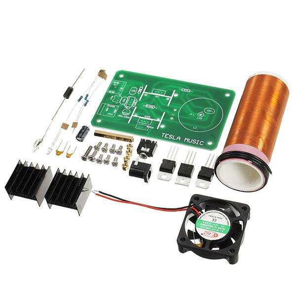 DIY Mini Music Tesla's Coil Kit Field Loudspeaker Low Power Miniature Tesla  Magic Toy JX03 DIY Project Parts