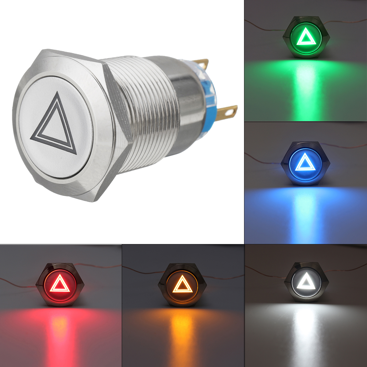 19mm 12v Ip65 Push Button Switch Dome Light Led On Off Switches