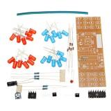 DIY Double Color Flashing Lights Kit Electronic Production NE555+CD4017 Practice Learning Kit