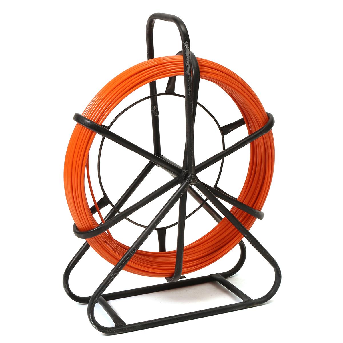 70M 4.5mm Fiberglass Rodder Tape Cable Running Rod Wire Puller Push ...