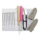 15pcs Kit Wool Felt Tools Needle Felting Starter Kit Mat Scissors Needle