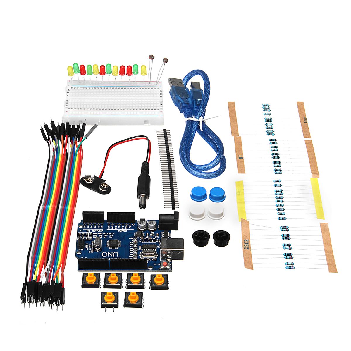 Basic starter kit uno r mini breadboard led jumper wire
