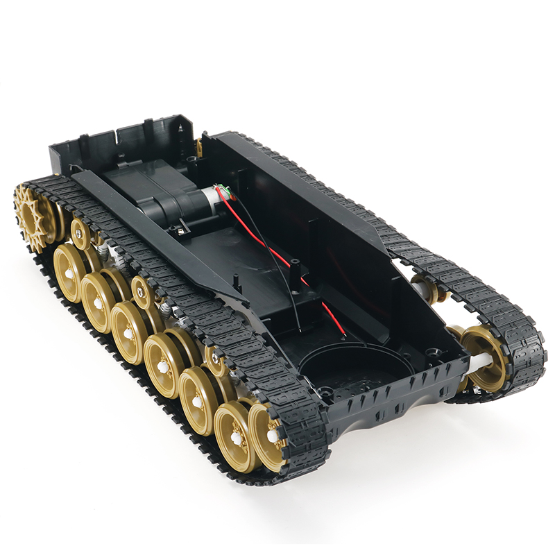 3V-9V DIY Shock Absorbed Smart Robot Tank Chassis Crawler Car Kit With 260 Motor For Arduino SCM