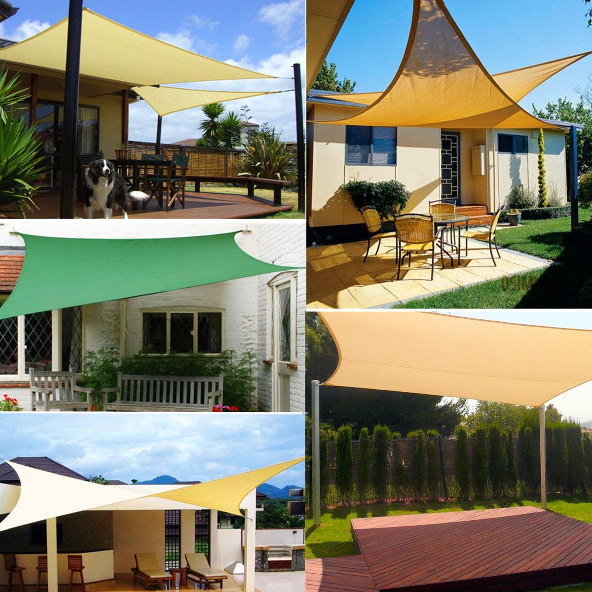 3.6x3.6x3.6m Sun Shade Sail Triangle Fabric Cover Cloth for Patio Canopy Garden