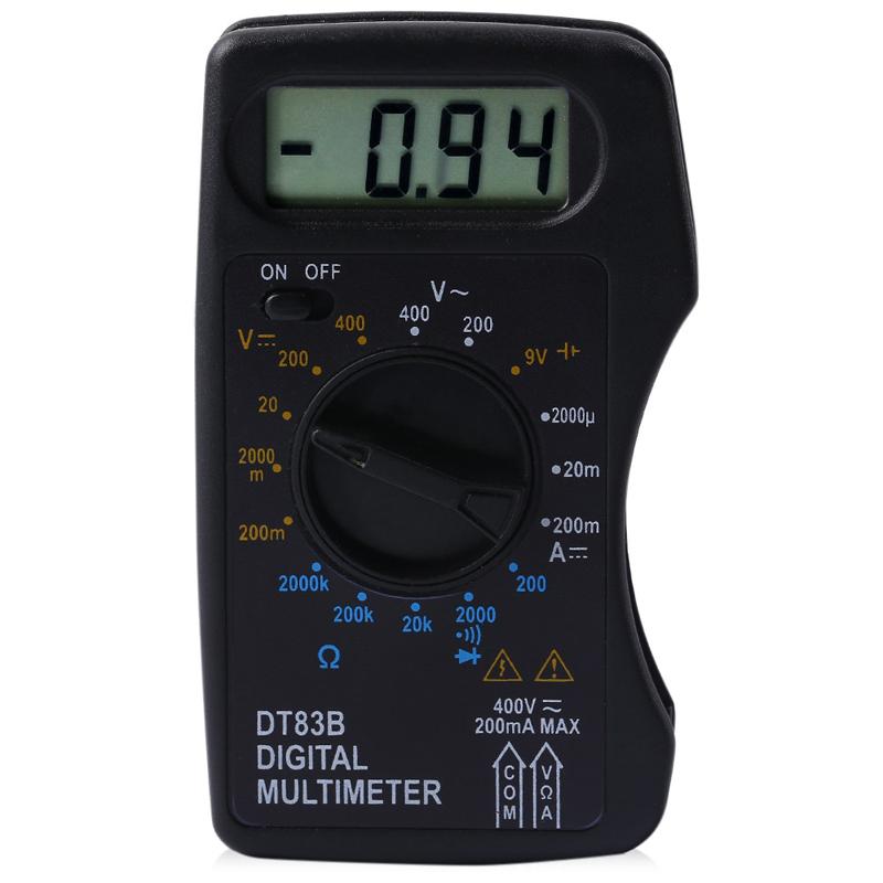 Digital Voltmeter Walmart : Whdz dt b digital multimeter ac dc voltage current