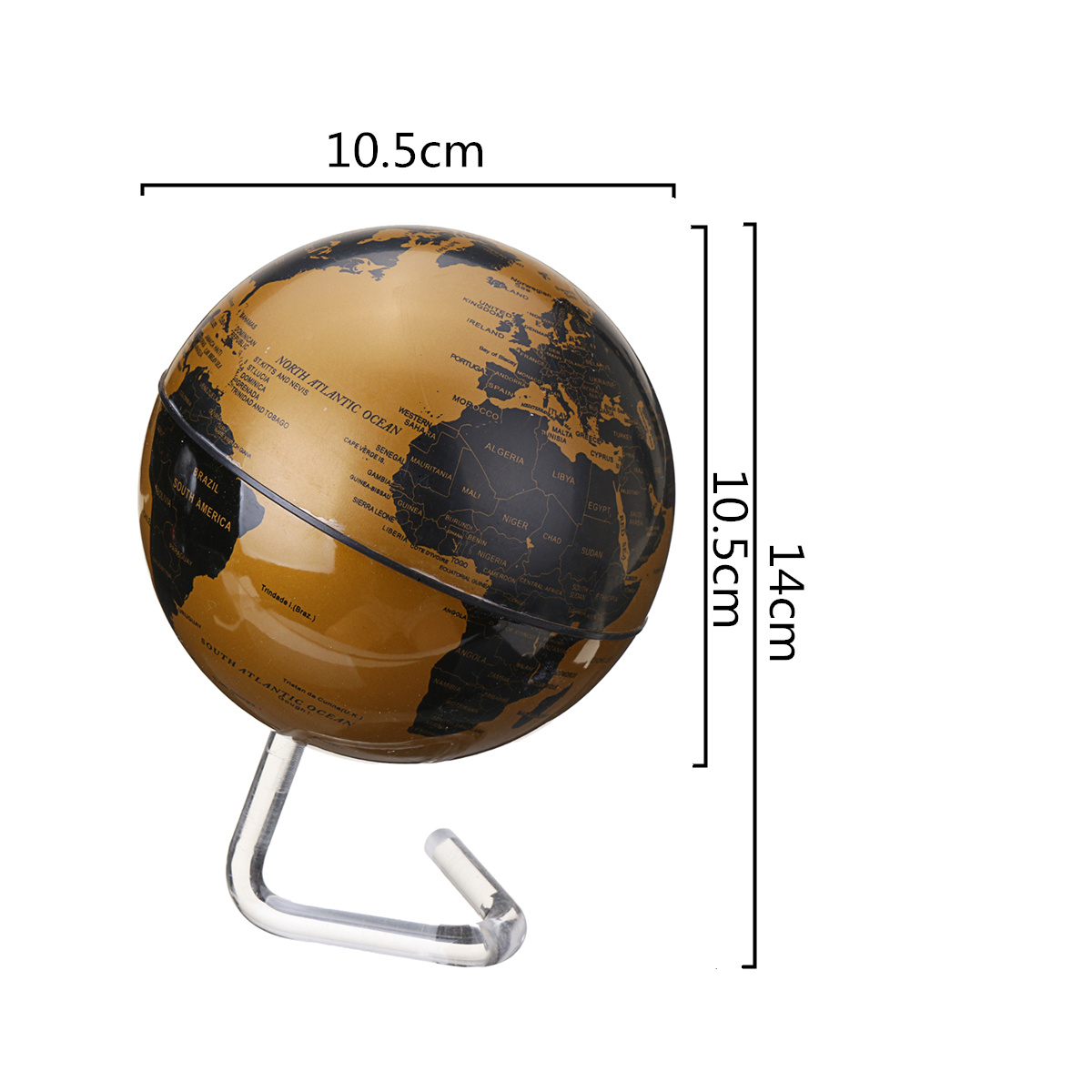 4 inch diameter electric rotating globe automatic 360 dregee 1 x automatic rotating world globe gumiabroncs Image collections