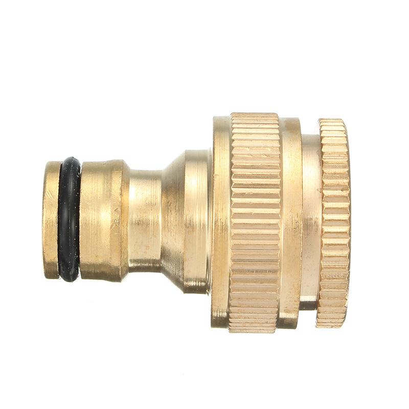 1/2 & 3/4 Inch Brass Faucet Adapter Female Washing Machine Tap ...
