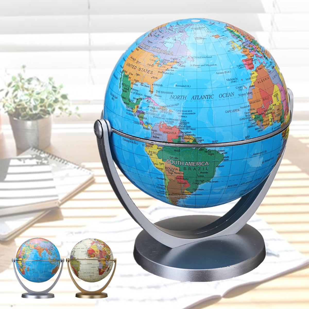 360 dregee rotating globes earth ocean globe world geography map 1 x world globe more detailed photos gumiabroncs Image collections