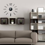 3D DIY Acrylic Mirror Sticker Wall Clock For Home Decoration Living Room Art Clock