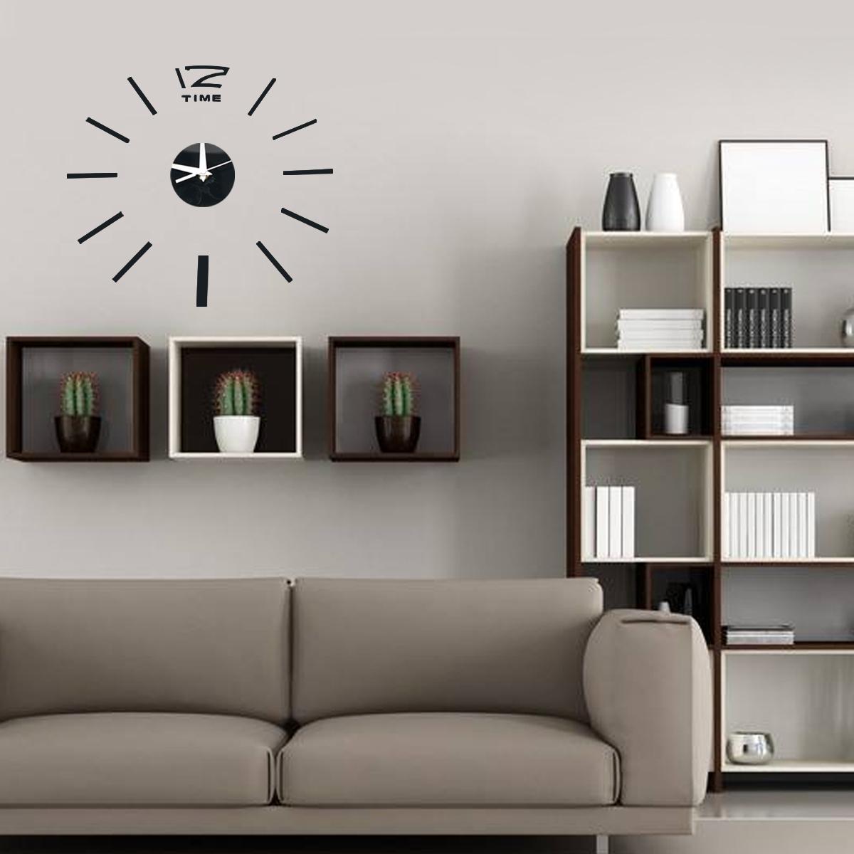 3d diy acrylic mirror sticker wall clock for home for 3d acrylic mirror wall sticker clock decoration decor