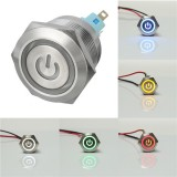 12V 6 Pin 22mm Push Button Momentary Switch with Led Light