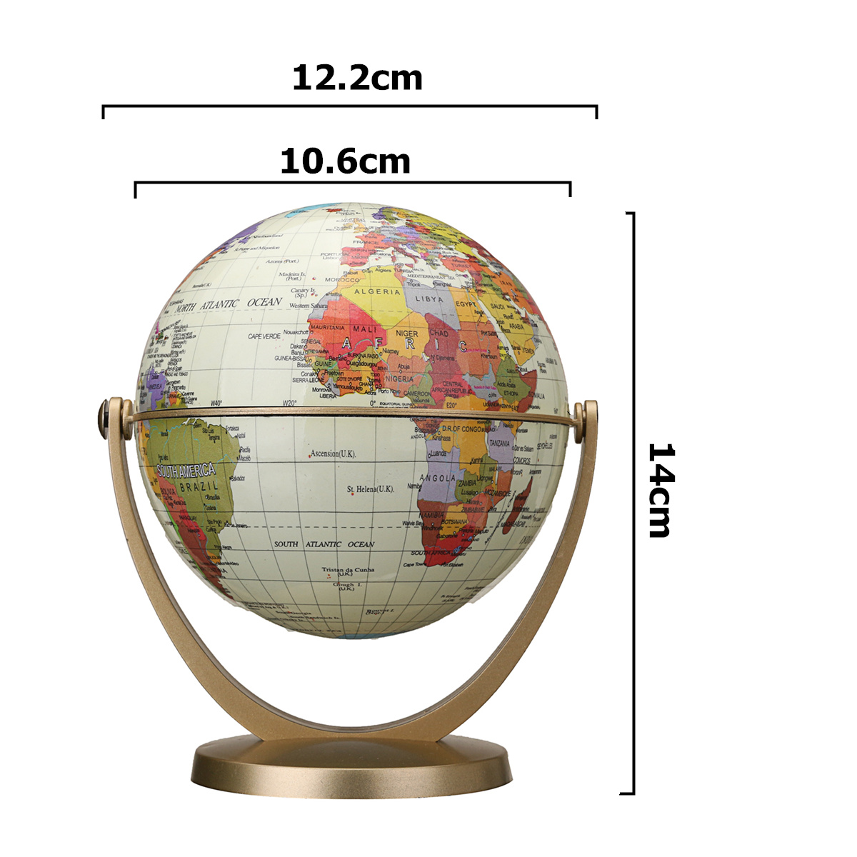 32cm Rotating World Map Globes Ocean Geographical Earth Desktop Globe