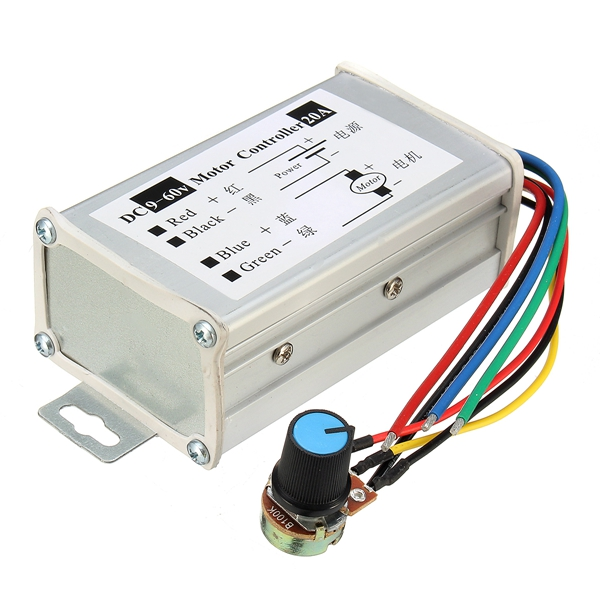 Dc 9 60v 20a Pwm Motor Stepless Variable Speed Controller