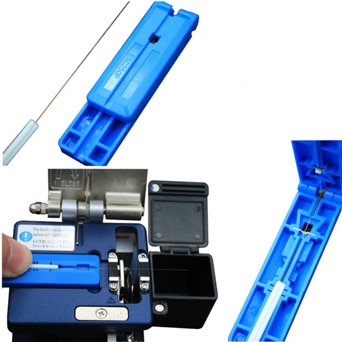 FTTH Splicing Splice Fiber Optic Stripping Tool Kits With Fiber Cleaver FC-6S