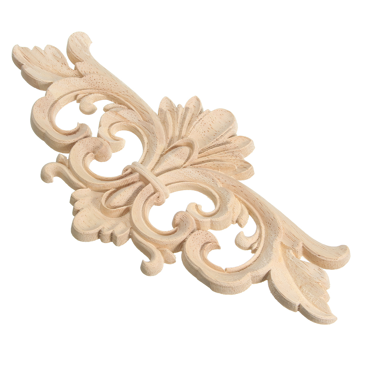 Vintage Unpainted Wood Carved Decal Corner Onlay Applique Frame for Home Furniture Wall Cabinet Door Decor Crafts 30x8cm