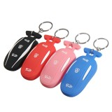 3 Button Silicone Smart Remote Key Cover Fob Case Key Holder With Key Chain Fits For Tesla Model X