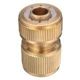 1/2 Inch Brass Water Hose Pipe Connector Quick Hose Coupler Adapter with Water Stop