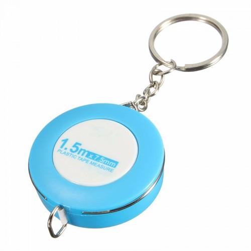 Color 150cm//60 Inch Measurement Measuring Tool Tape Measure Soft Ruler Keychain