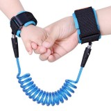 PU&Stainless Steel Contraction Toddler Safety Harness Child Safty Wrist Link Anti-lost Child Belt