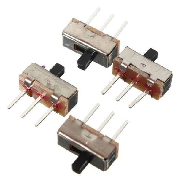 50 Pcs 2 Position SPDT 1P2T 3 Pin PCB Panel Vertical Slide Switch  T/_jys4