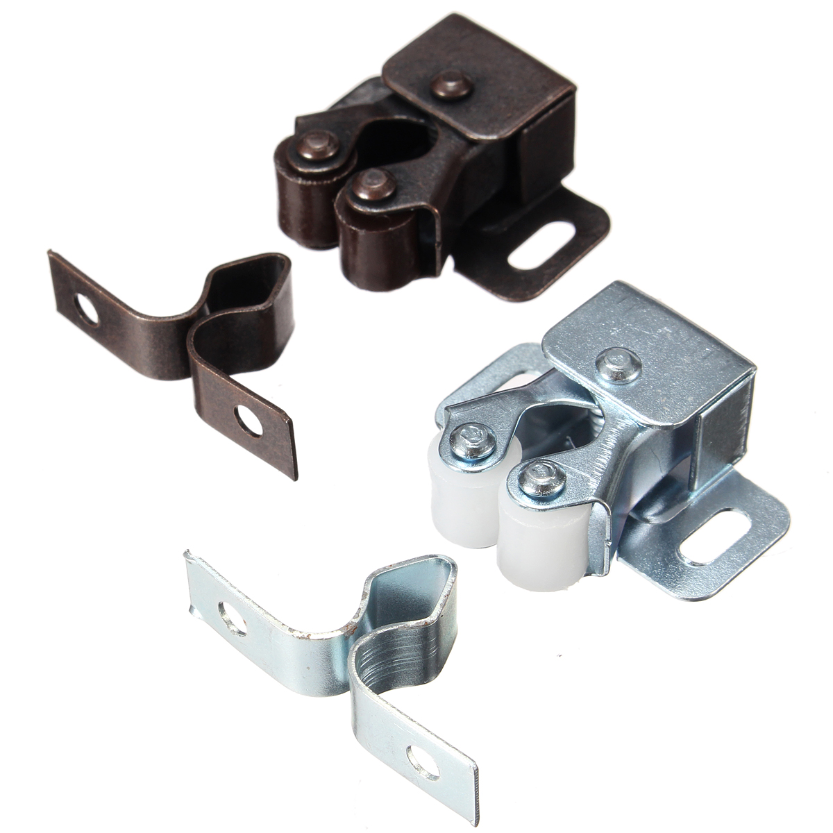 Double roller catch cupboard cabinet door furniture latch