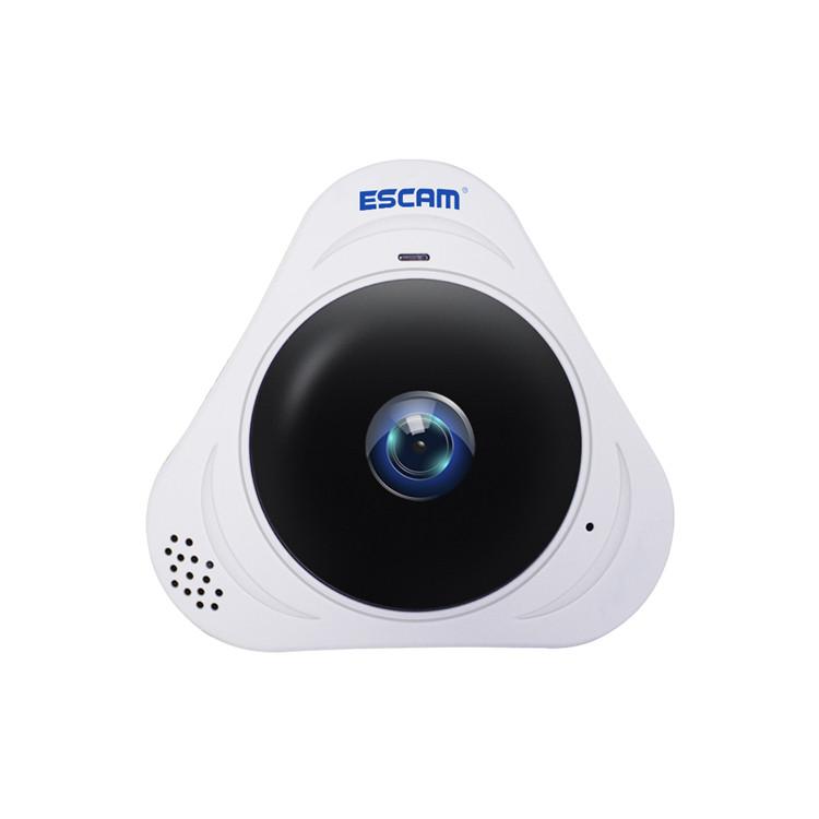 ESCAM Q8 960P 1.3MP 360 Degree VR Fisheye WiFi IR Infrared IP Camera Two Way Audio Motion Detector