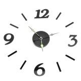 Acrylic 3D Numbers Mirror Sticker Wall Clock Modern Art Decal Home Room Decor
