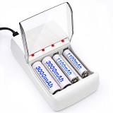 POLA C707 4 Slots LED Indicator Smart Charger for AA / AAA NiCd NiMh Rechargeable Battery