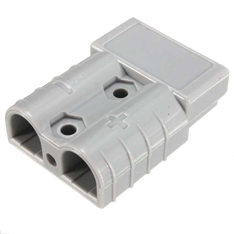 50a 8awg Battery Quick Connector Plug Connect Terminal Disconnect Winch Trailer Grey
