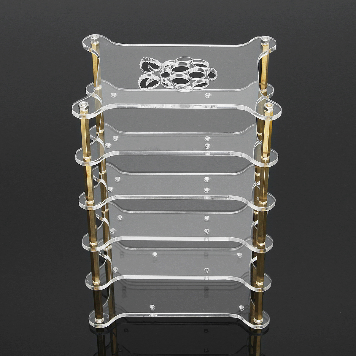 Clear Acrylic 5 Layer Cluster Case Shelf Stack For Raspberry Pi 3/2 B and B+