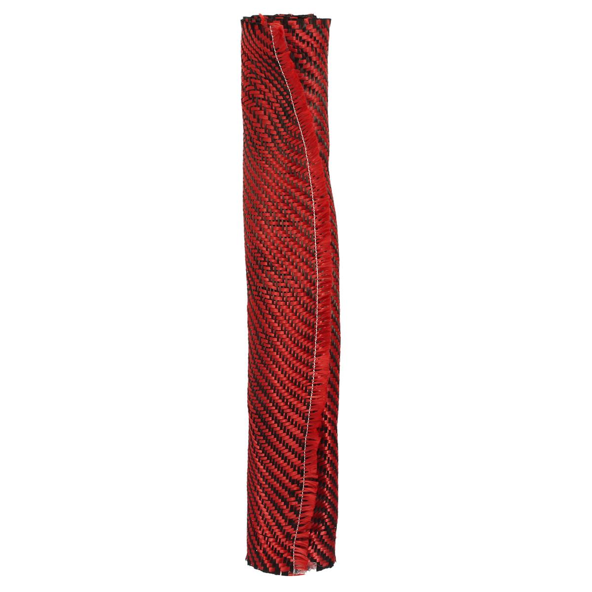 Carbon Fiber Black Red Kevlar Cloth Fabric Twill Weave Panel Sheet 200gsm