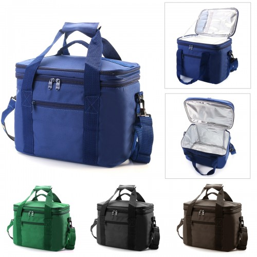 33x20x27cm Oxford Double layer Insulated Lunch Bag Large Capacity Travel Outdoor Picnic Tote Bag