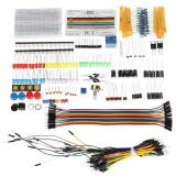 Electronic Components Base Kit With Breadboard Resistor Capacitor LED Jumper Cable For Arduino With Plastic Box Package