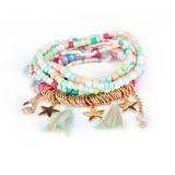 Bohemian Women's Bracelet Tassel Star Crystal Beads Bracelet Gift for Women