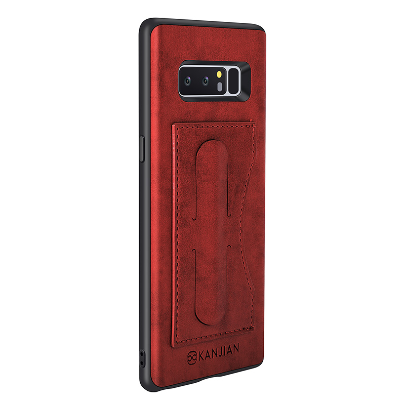 Card Slot Pu Leather Kickstand Magnetic Case For Samsung