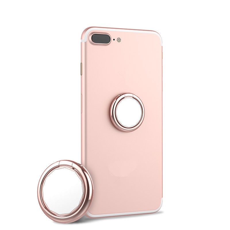 2 in 1 Mirror 360 Degree Rotation Finger Ring Stand Desktop Phone Holder for iPhone 8 X Smart Phone