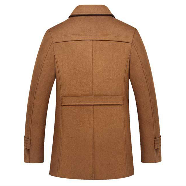 9ef7e1497 Autumn Winter Fashion Business Double Collar Casual Jacket Men's Wool Warm  Jacket Long Trench Coat