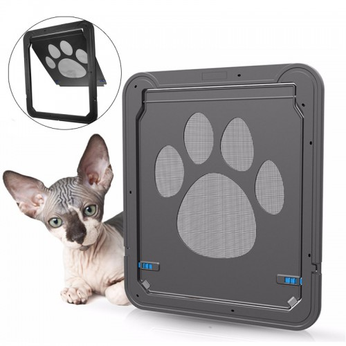 37x42cm large medium dog cat pet door screen window abs for Automatic locking dog door