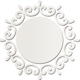 3D Circle Wreath Silver DIY Shape Mirror Wall Stickers Home Wall Bedroom Office Decor