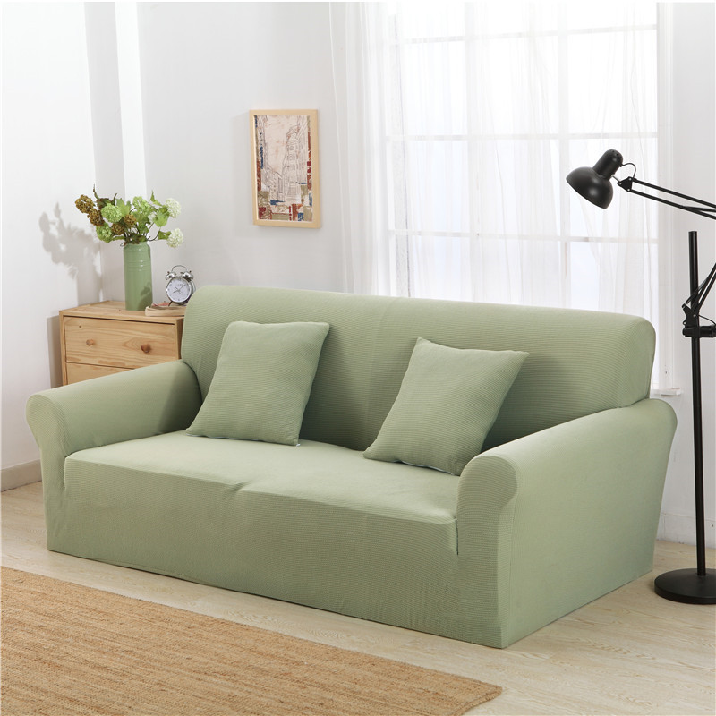 Kcasa Kc Pcp2 Jacquard Thickened Knit Sofa Covers Polyester Spandex Fabric Slipcovers Solid Color