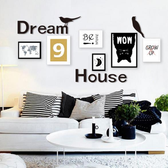 3d dream house multi color diy shape mirror wall stickers for Dream house 3d