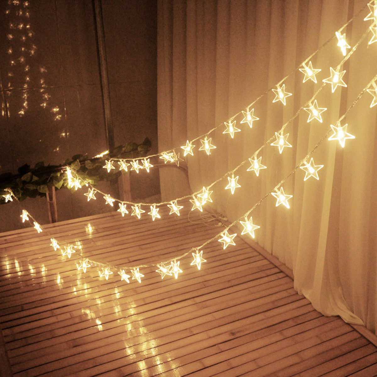 10m 100leds 8modes indoor outdoor star fairy string light - Indoor string light decoration ideas ...