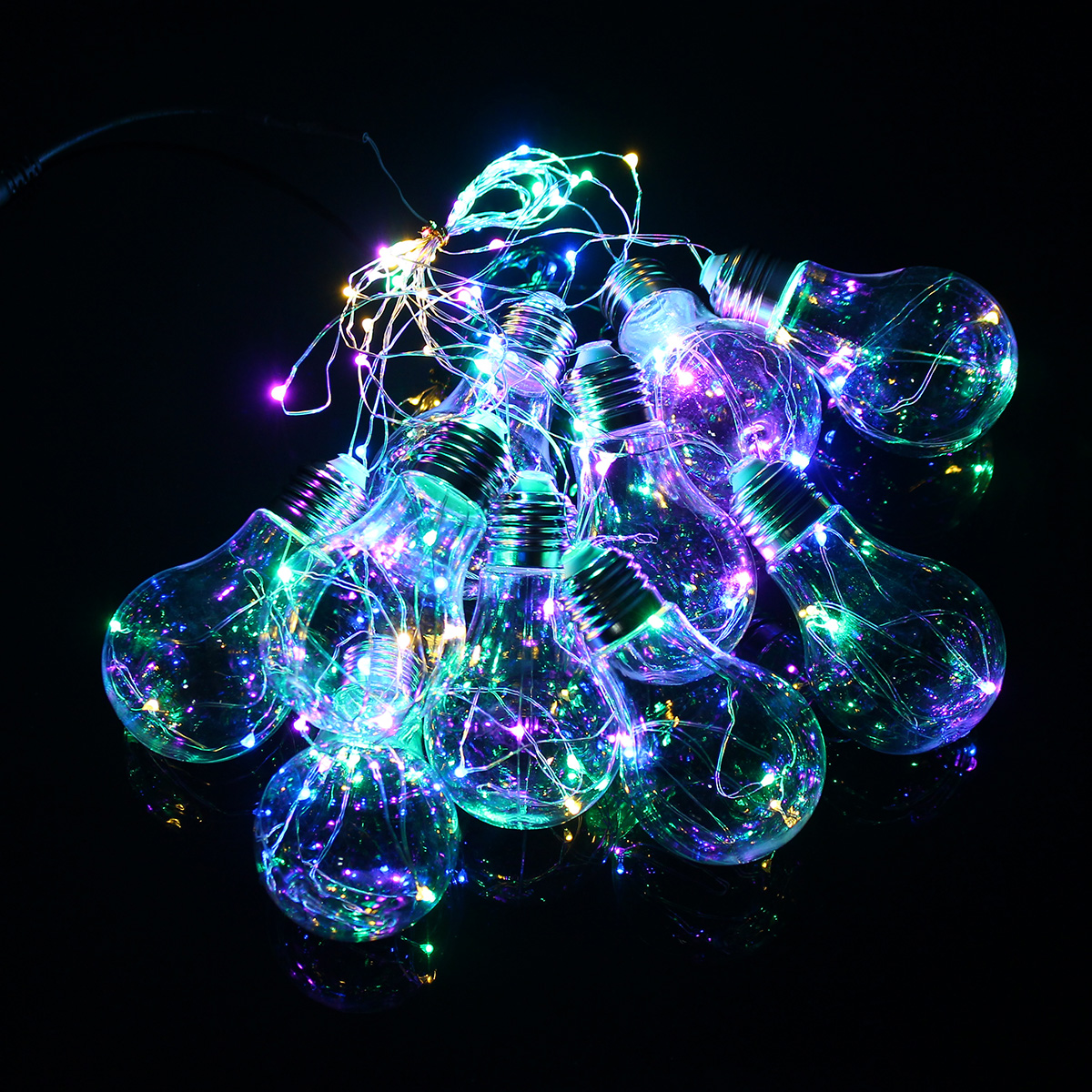 Cheap String Lights Indoor: 4M 10LEDs Bulb Shaped Indoor Outdoor Fairy String Light