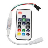 DC5-24V RF Mini Wireless LED RGBW Controller with 17 Keys Remote Control for W2811 W2812 Strip Light